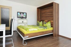 Schlaf und Wohnzimmer